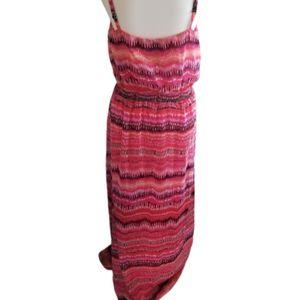 || WHBM || Small Pink Spaghetti Strap Maxi Dress